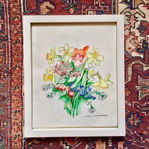 Beautiful Handmade Framed Watercolor Painting